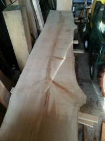 8ft sycamore waney edge slabs
