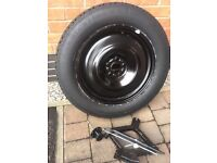 Space saver wheel for Range Rover Evoque with jack and brace