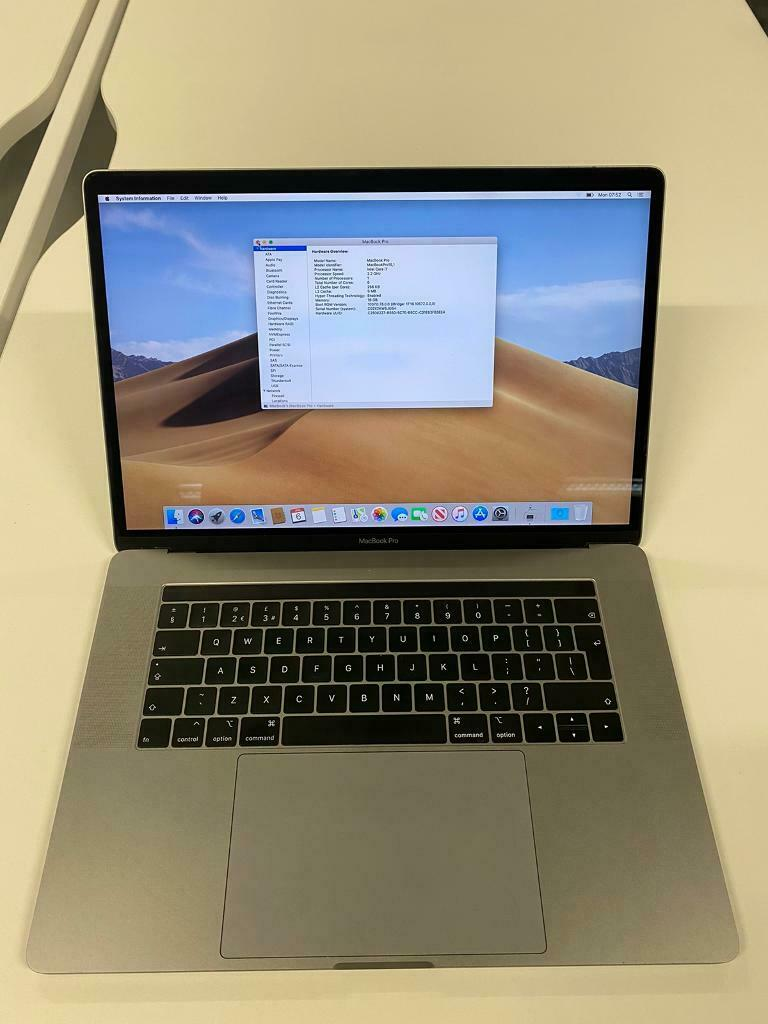 MacBook Pro 15 inch 2018 touchbar - 256gb - i7 6 core ...