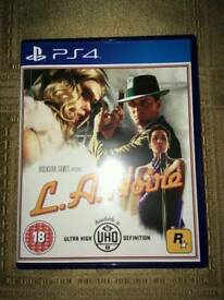 la noire ps4 game / used once from brand new/ cash or swaps
