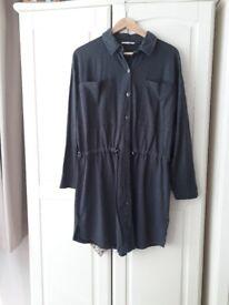 Grey jersey tunic top