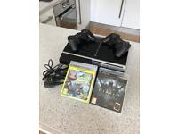 PlayStation 3 / PS3 40GB with 2 controllers and 2 games, complete and fully functional