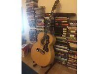Epiphone EJ-200 acoustic guitar.