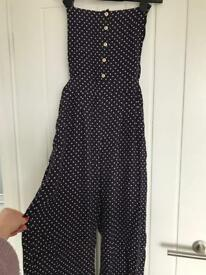 River island spotty dungaree jumpsuit