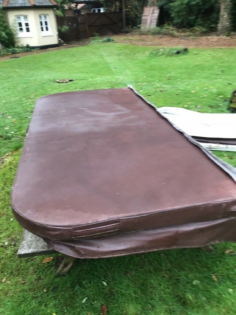 Half a jacuzzi cover. 2.3m x 1.05m. Infill in good condition. £50. Collect