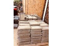 Sandtoft roof tiles. Grey. Sand faced. Standard pattern roof tiles