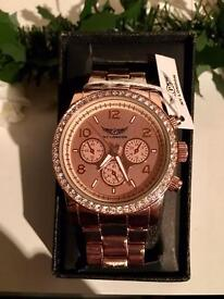 NEW NY London Ladies' Rose Gold Watch