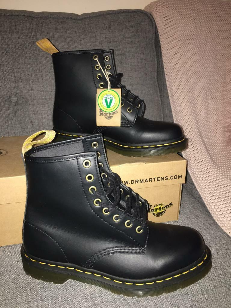 3b1b09cbb324 Dr Martens vegan 1460 unisex boots size 7 BNIB | in Caerphilly ...