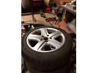 4 alloy wheel set And tyres