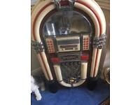 Free standing Juke box Vintage Jukebox 1950's style CD player radio tuner SD card slot tape slots