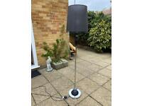 Black/chrome floor lamp