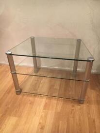 Large solid glass TV stand