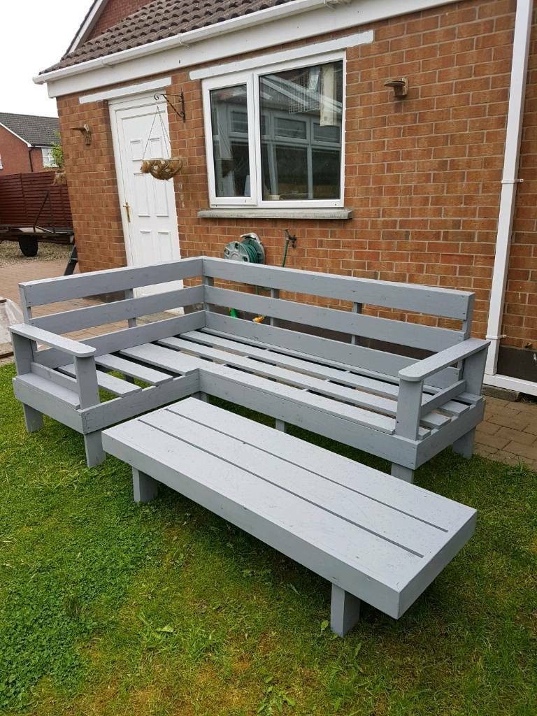 Wooden Corner Sofa Wood Garden Outdoor Furniture Wooden