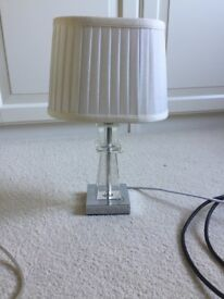 Small Cream lamp with glass base