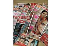Large selection of psychology magazines