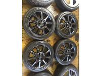 """16"""" GENUINE VAUXHALL CORSA D ALLOY WHEELS SET OF 4 WITH TYRES"""