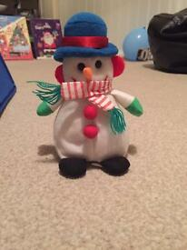 Musical snowman Christmas toy