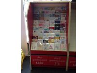 Greeting Card Display Stand - Fully Stocked With Cards - £900 return obtainable - Free Delivery