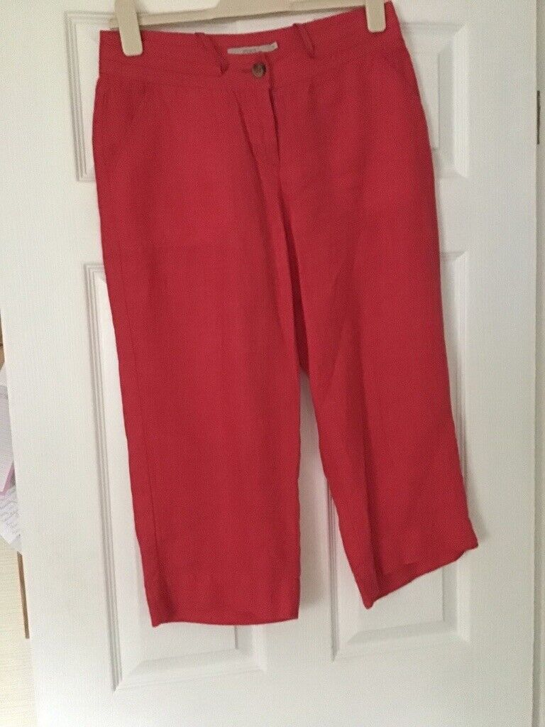 classic release info on sold worldwide Ladies red/pink three quarter length trousers. M&S.   in Thornhill ...