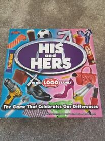 His and hers board gamr; the logo board game