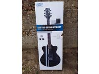 CB SKY electric guitar with amplifier