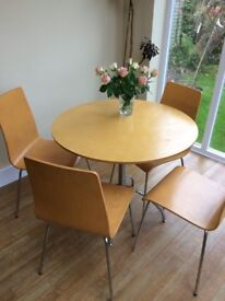 Small round kitchen table and 4 chairs