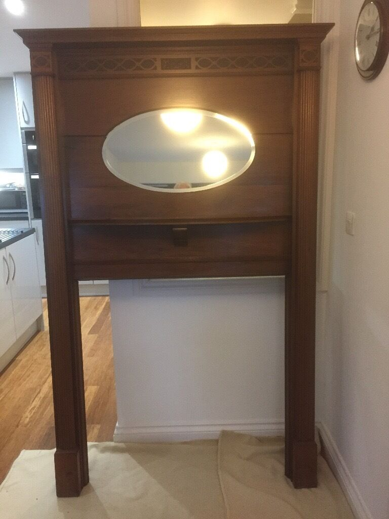 edwardian fireplace surround with mirror mahogany in