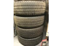 4 Wheels and tyres for VW T5 1900TDI transporter van