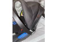 Silver cross car seat & iso fix base