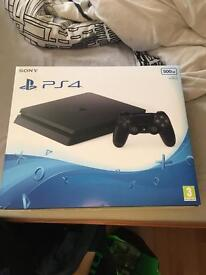 PlayStation 4 mint condition with all cables and controller plus 4 games must pick up today!