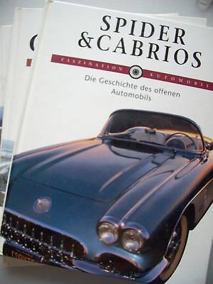 3 Bücher Spider Cabrios + Coupés + Luxusautos 1991