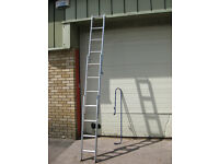 LOFT LADDER - ABRU, 3-section Aluminium with handrail