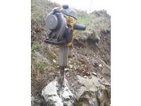 Petrol rock breaker