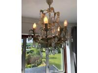 Ornate glass chandelier