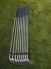 Set of Mizuno Shadow Oversize irons 3 - S/W flex steel shafts