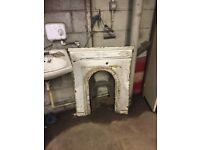 Beautiful untouched Victorian fireplace