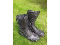 Stylmartin black/silver motorbike boots size 43 (UK 9)
