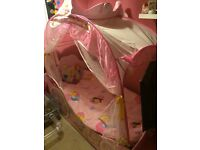 Girls princess carriage bed