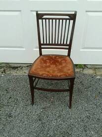 Inlaid bedroom chair