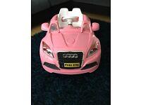 Girls Pink Audi Electric car