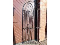 Wrought Iron Style Solid Metal Gate with Brackets & Latch. 6ft h x 28ins w. Good Cond.