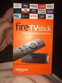 Amazon fire with Alexa