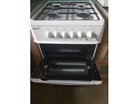 Beko white gas cooker with oven and grill