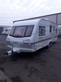 ELDDIS SIROCCO 4/5 BERTH TWIN AXLE CARAVAN YEAR 2001/2002 LOVELY CARAVAN IDEAL FOR SITEING