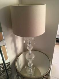 Lamp with cream shade
