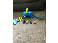 Fisher price batman toy and 4 vehicles