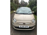 2015, Fiat 500 One owner, 10,000 miles, FSH, Panoramic roof, Alloys Showroom condition.
