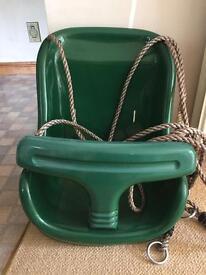Baby swing seat for garden frame