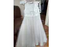 holy communion dress with bag