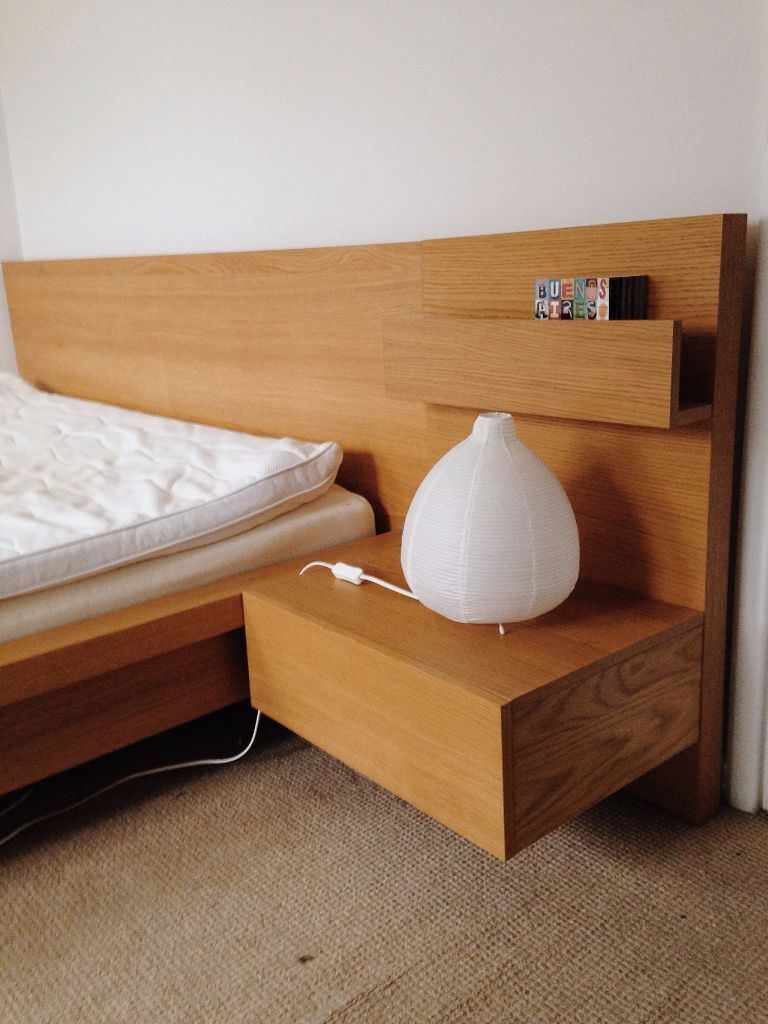Malm Bedframe With Floating Side Table In Bethnal Green